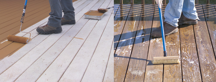 outdoor deck paint or stain. applying deck stain or paint is easy with help from sherwin-williams. get the highest quality results your porch staining project by following outdoor c