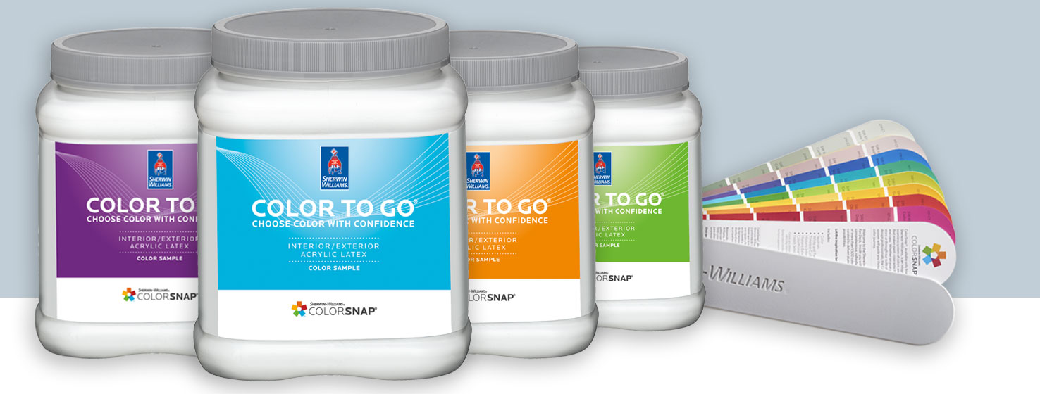 SherwinWilliams Color To Go Sample System Test Hundreds Of Colors - Paint tester online