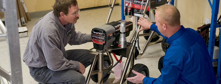 Spray equipment maintenance repair sherwin williams for Pro equipement restauration