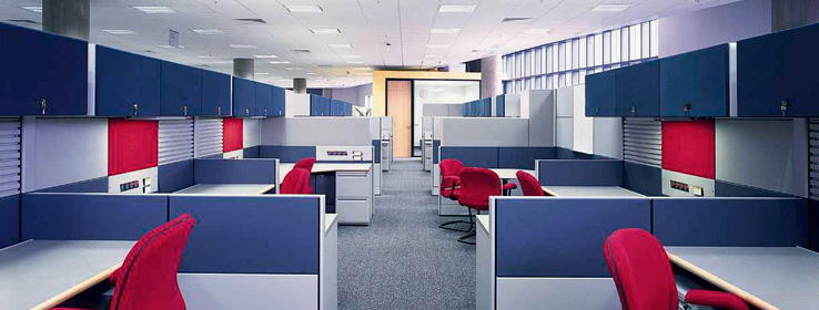 High Quality With The Work Space Increasingly Defined By Movable Partitions And Panels,  The Careful Selection Of The Colors Of These And Other Office Elements, ...
