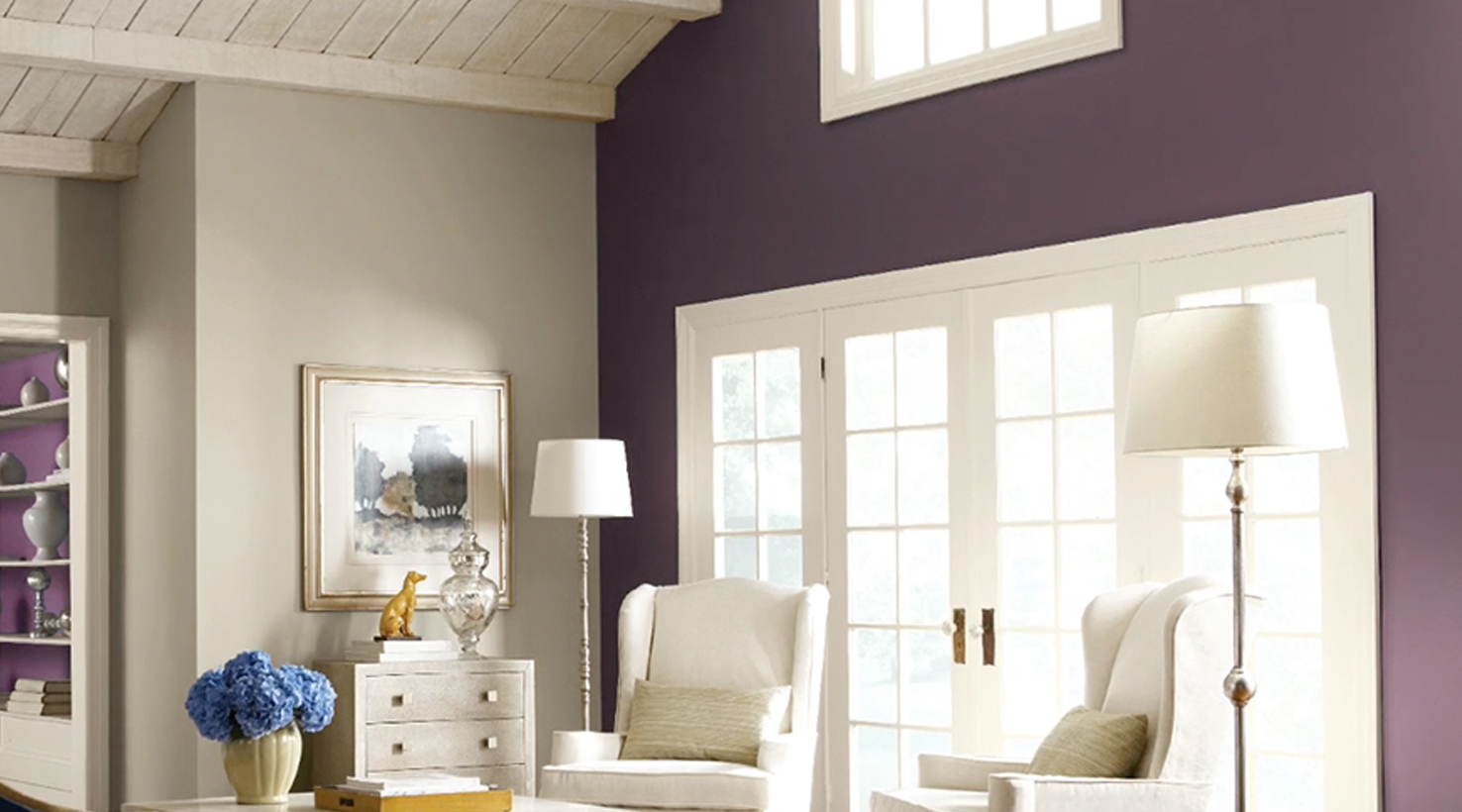 Living Room Purples