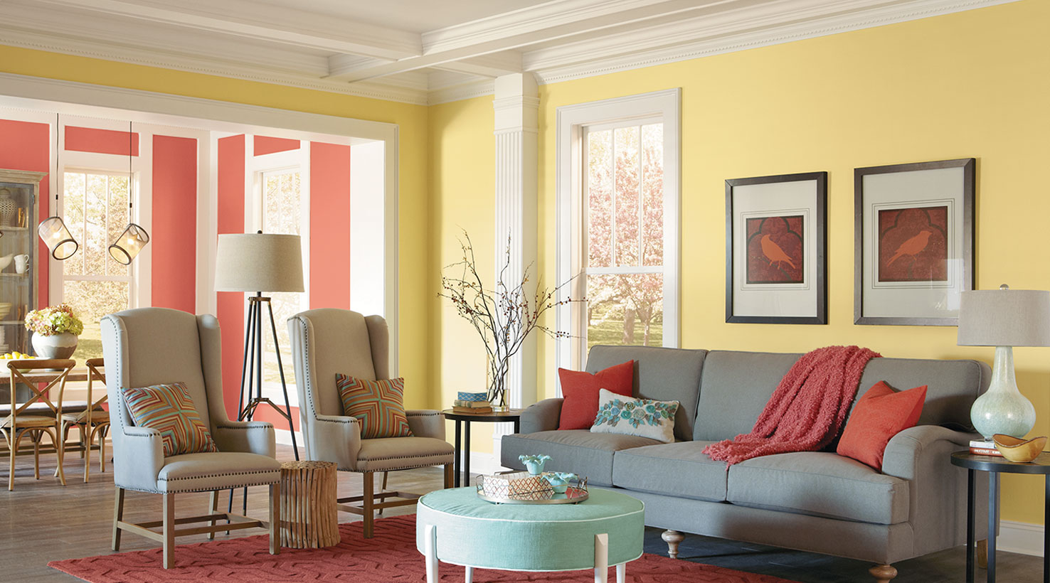 Orange And Yellow Living Room Living Room Color Inspiration Sherwin Williams