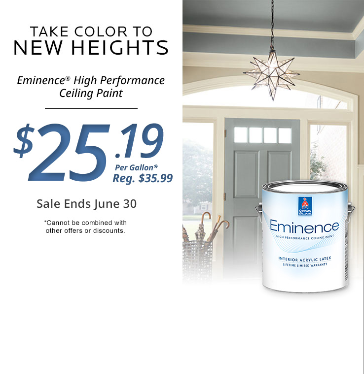 Captivating Eminence High Performance Ceiling Paint Is On Sale For $23.79 Per Gallon  (regular Price $33.99