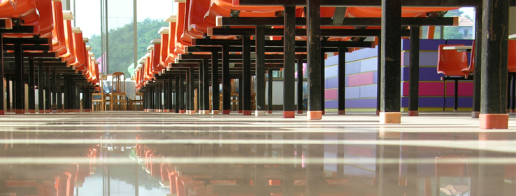 Concrete Stained Vs Polished Concrete Floors Sherwin