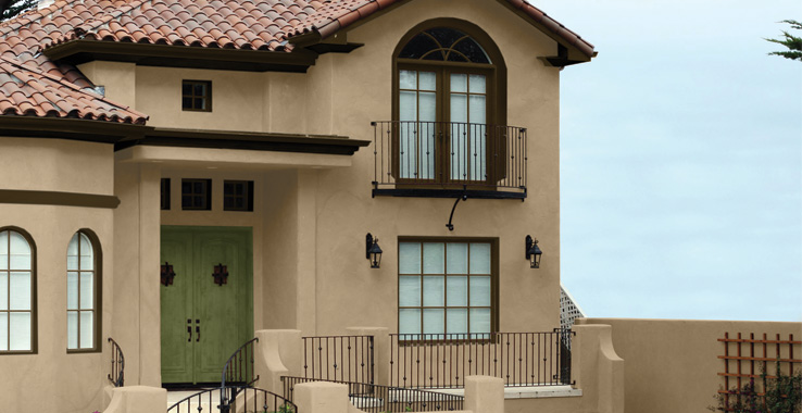 Desert southwest style sherwin williams for Sherwin williams latte exterior paint