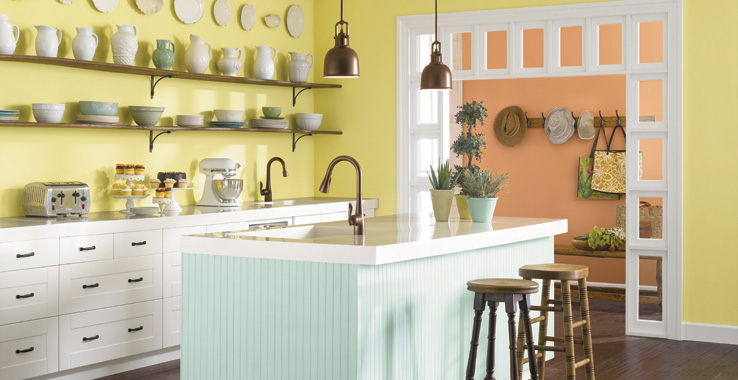 Gentle medley sherwin williams for White kitchen cabinets turning yellow