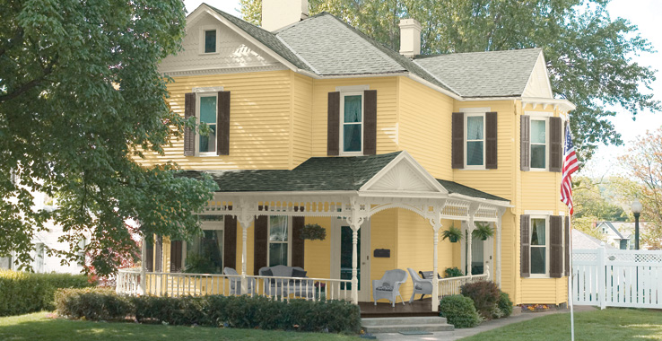 Suburban traditional palette by sherwin williams color for suburban landscape - Best color for exterior house paint image ...