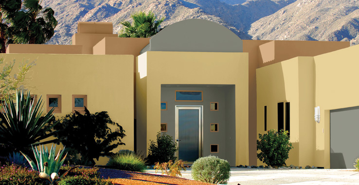 Desert southwest style sherwin williams for Home outside palette