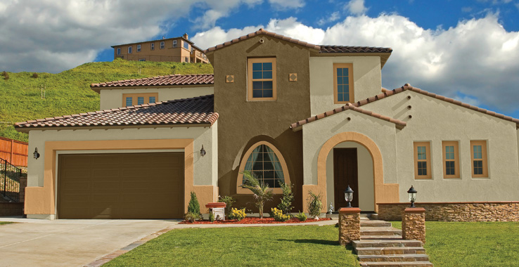 Desert southwest style sherwin williams for Southwest home builders