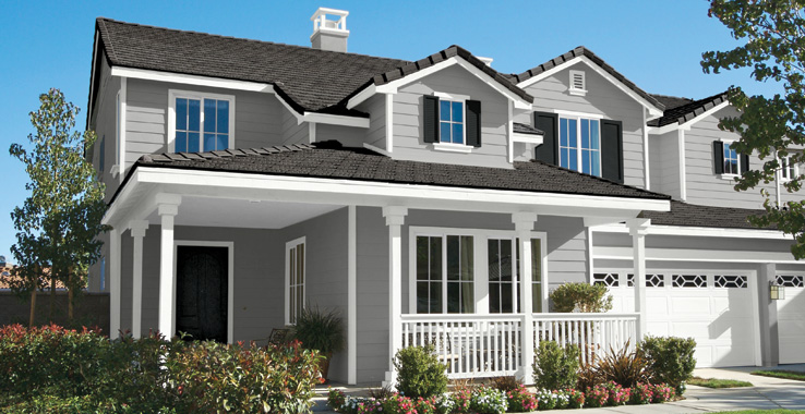 Suburban traditional sherwin williams for Sherwin williams peppercorn exterior