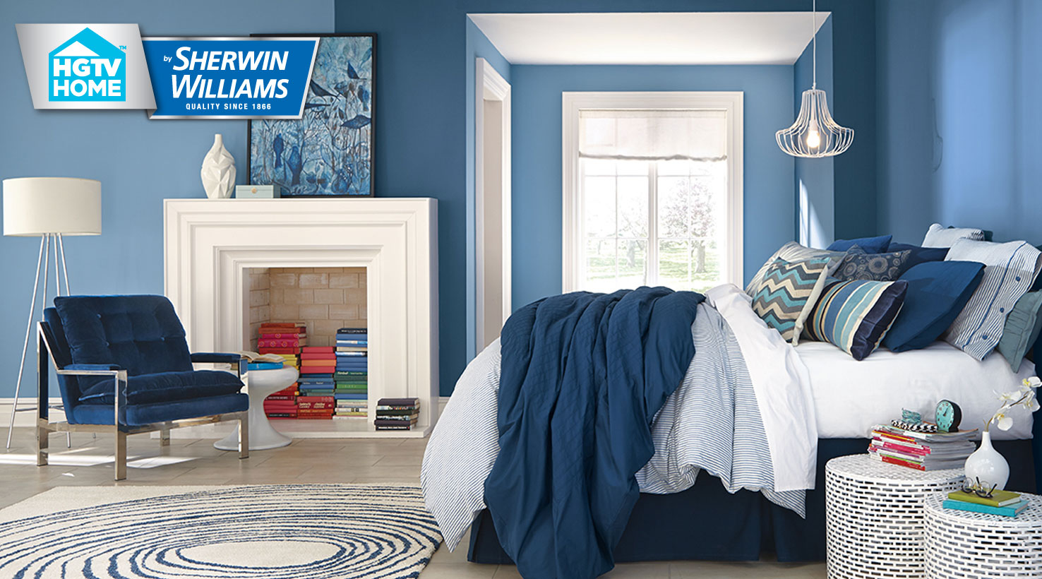 Color pizzazz paint color collection hgtv home by for Blue jean paint color