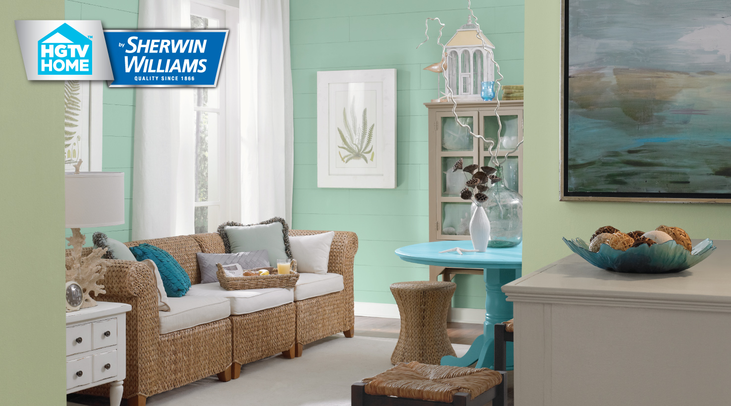 how to get a vibrant aqua in traditional paints