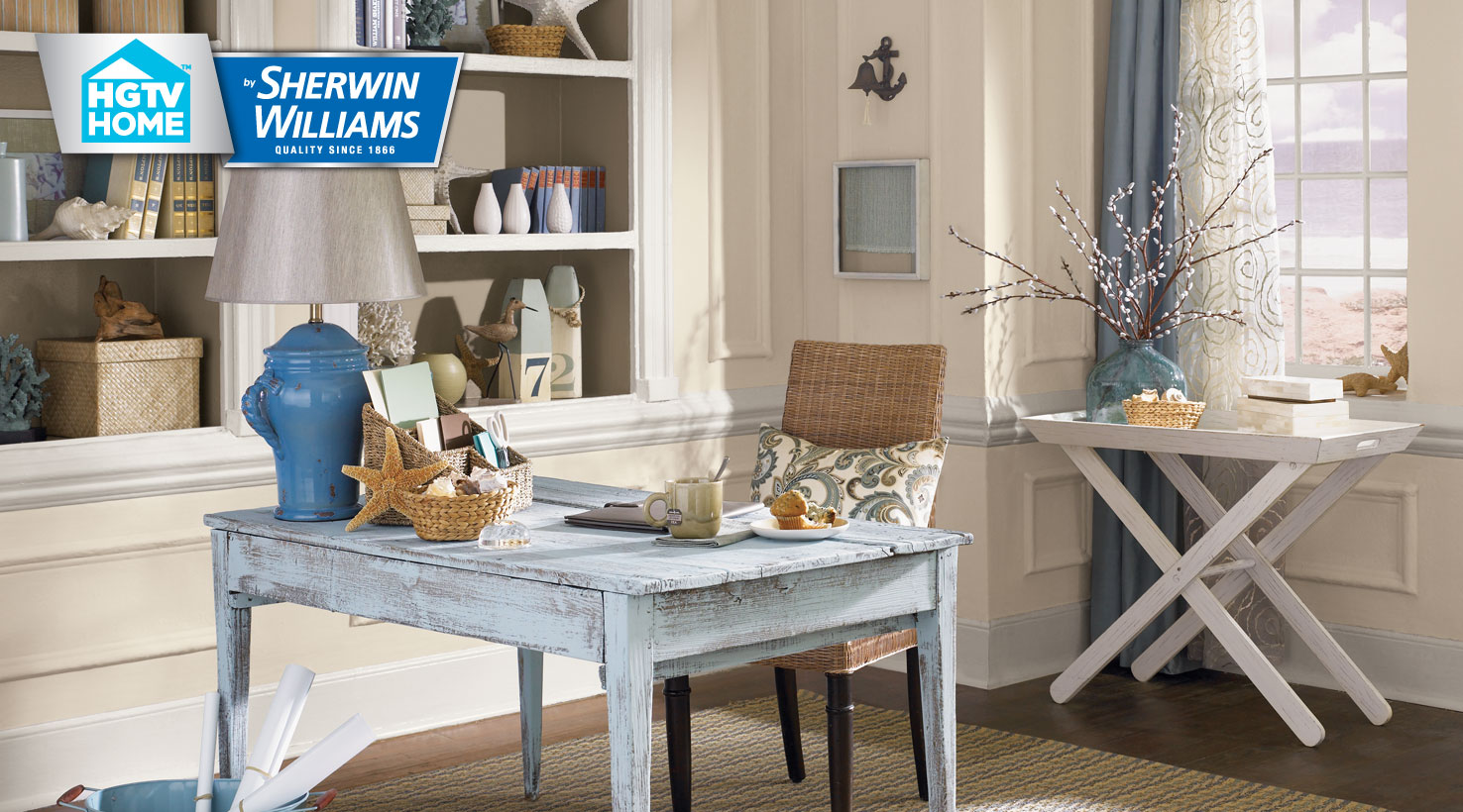 Coastal cool color palette hgtv home by sherwin williams for Hgtv beach house designs