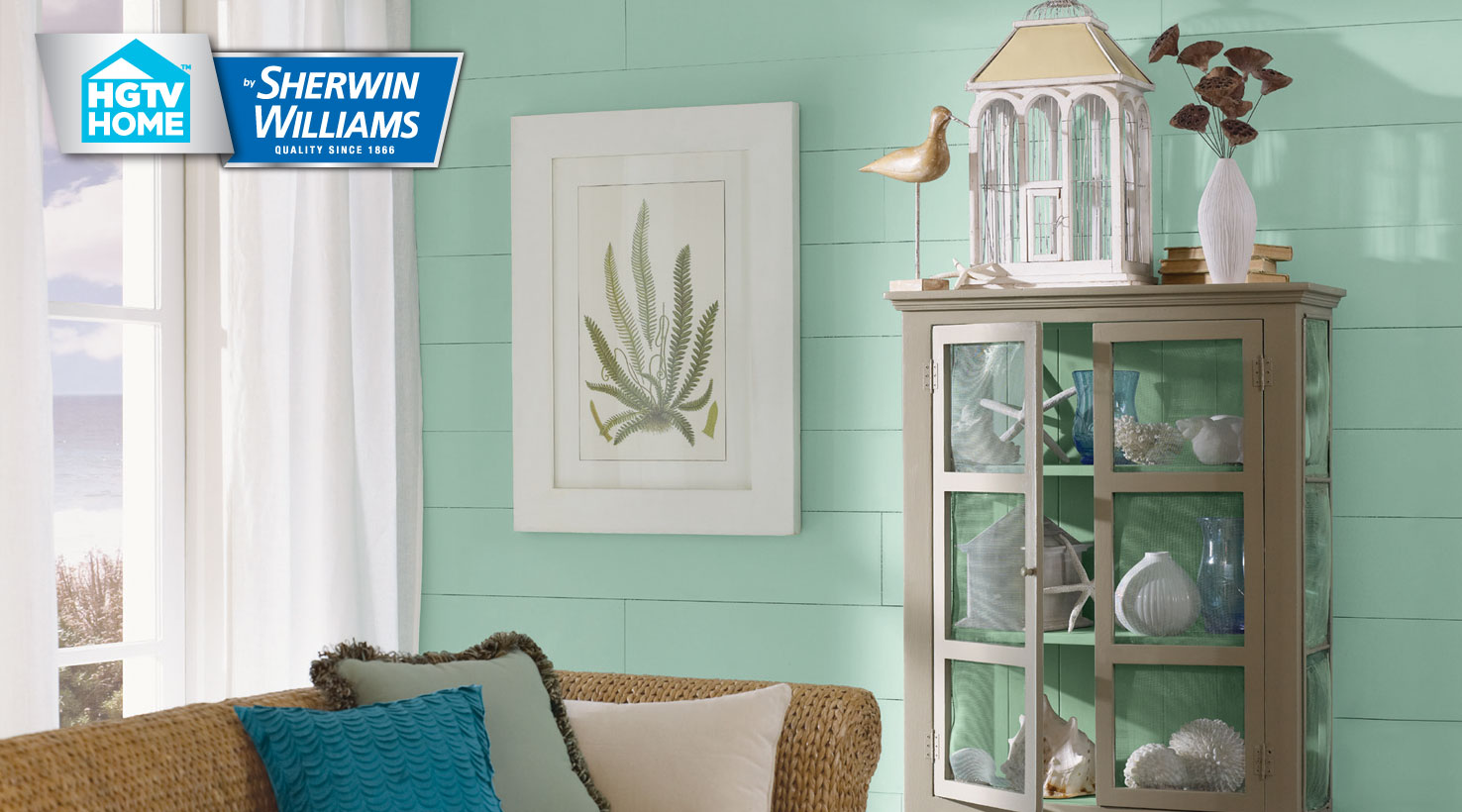 Sherwin Williams Green Living Room Blue Bathroom