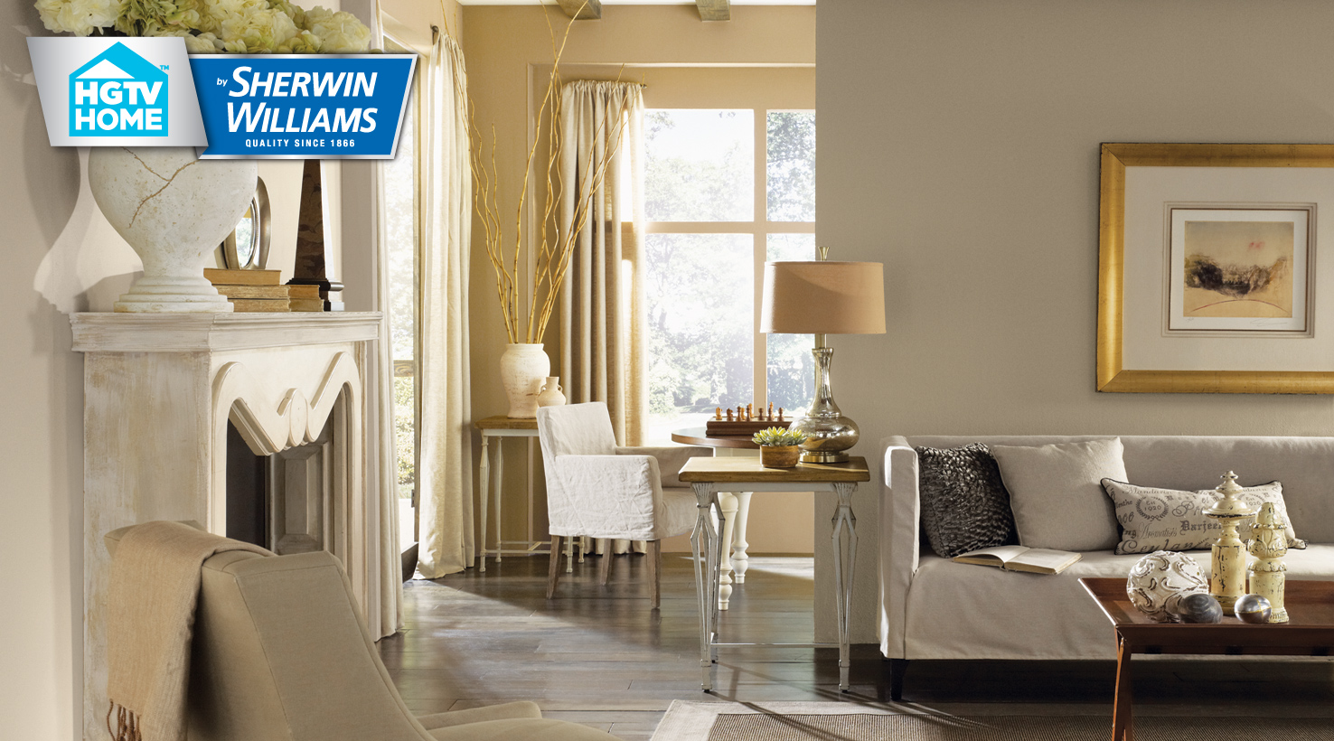 neutral nuance color palette hgtv home by sherwin williams. Black Bedroom Furniture Sets. Home Design Ideas