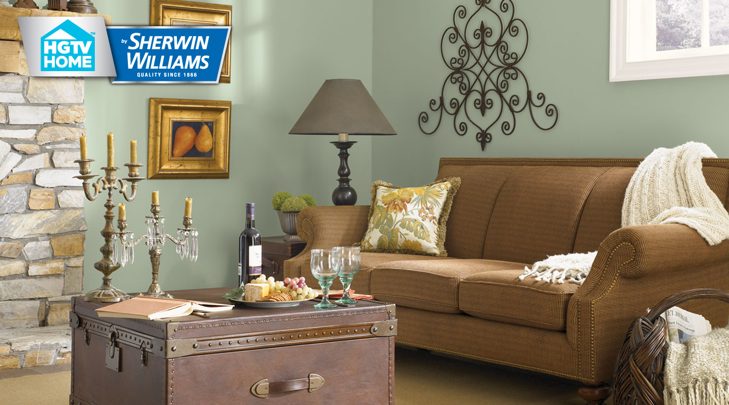 Rustic refined color palette hgtv home by sherwin williams - Rustic home exterior color schemes ...