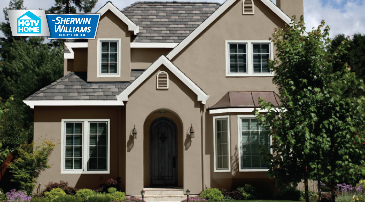 Home exterior wallpaper wallpaper home for Sherwin williams latte exterior paint