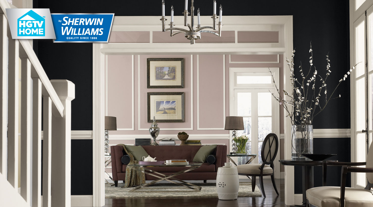 Dovetail Sw7018 Liveable Luxe Color Palette Hgtv Home By Sherwin Williams