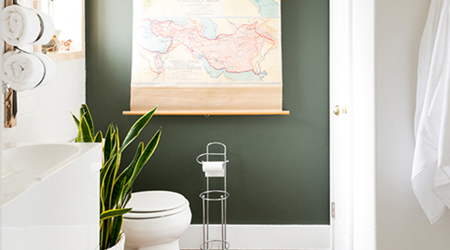 Bathroom Wall Colors Ideas Part - 39: ... Bathroom - Greens ...
