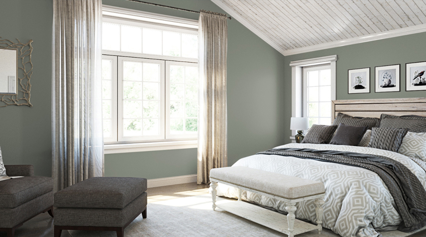 Top 3 Blue Green Paint Colors for Dark and Dramatic Walls ...