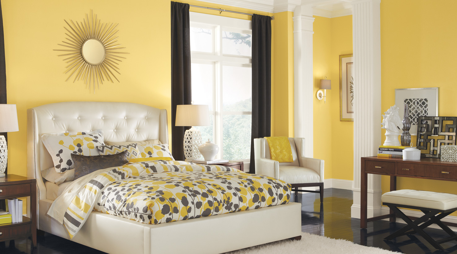 Ordinary Yellow Interior Paint Ideas Part - 2: Bedroom - ...