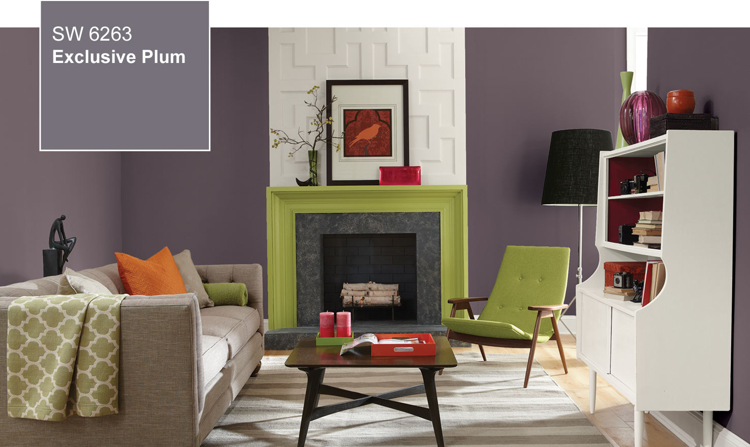 2014 color of the year exclusive plum sw 6263 by for Top 10 living room paint colors 2014