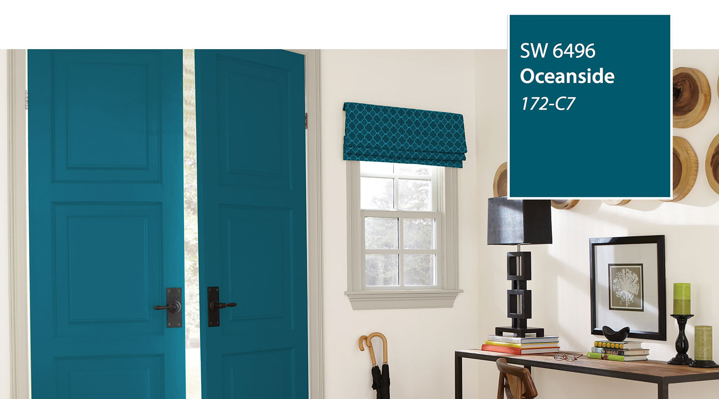 Introducing the 2018 color of the year oceanside sw 6496 for Interior designs 2018