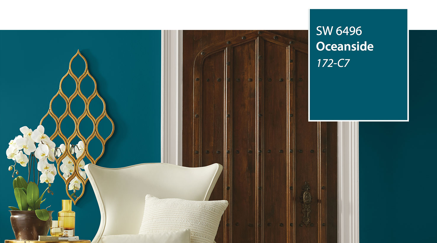 SW - Color of the Year 2018 - Oceanside SW 6496 - slide 5