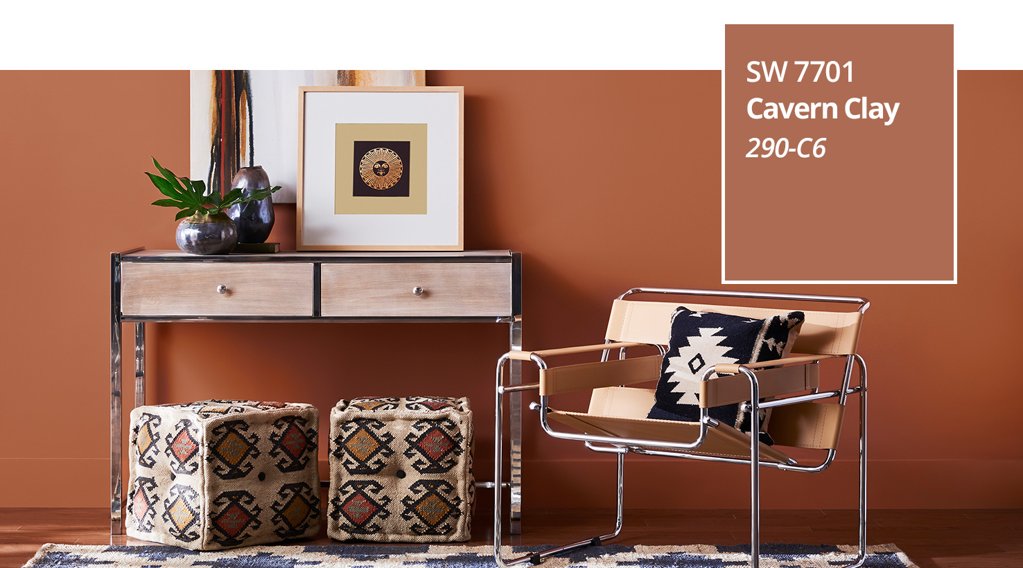 Color of the year 2019 cavern clay sherwin williams - Coral paint color for living room ...