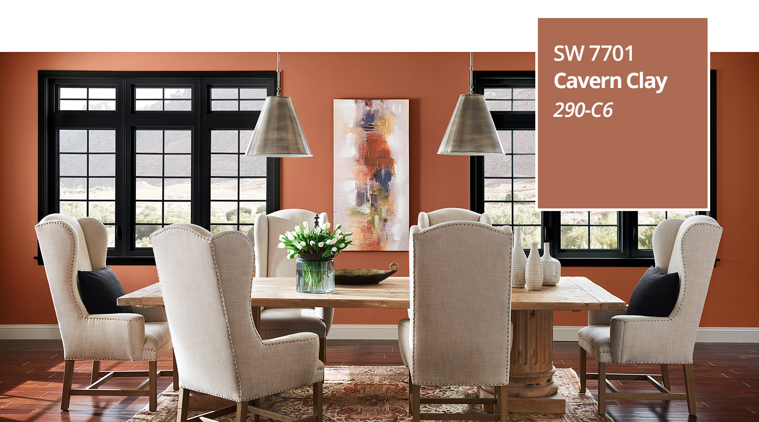 Color of the year 2019 cavern clay sherwin williams - Most popular colors for living rooms ...