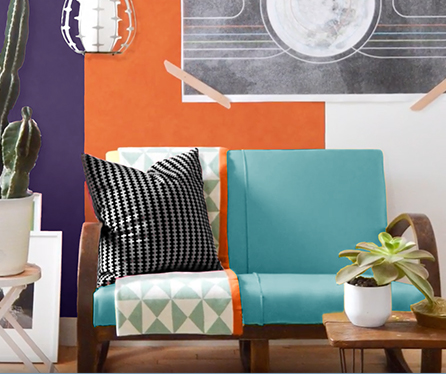 complementary color scheme in interior design ideas