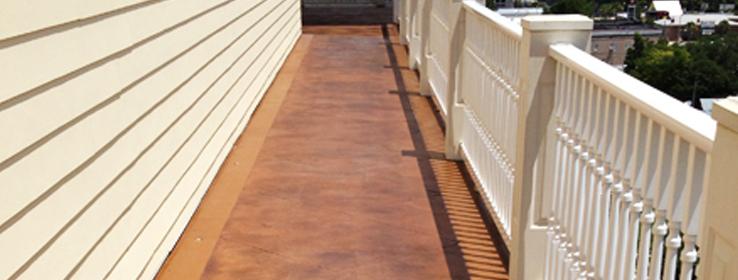 Decorative Overlays Re And Enhance Concrete Walkways