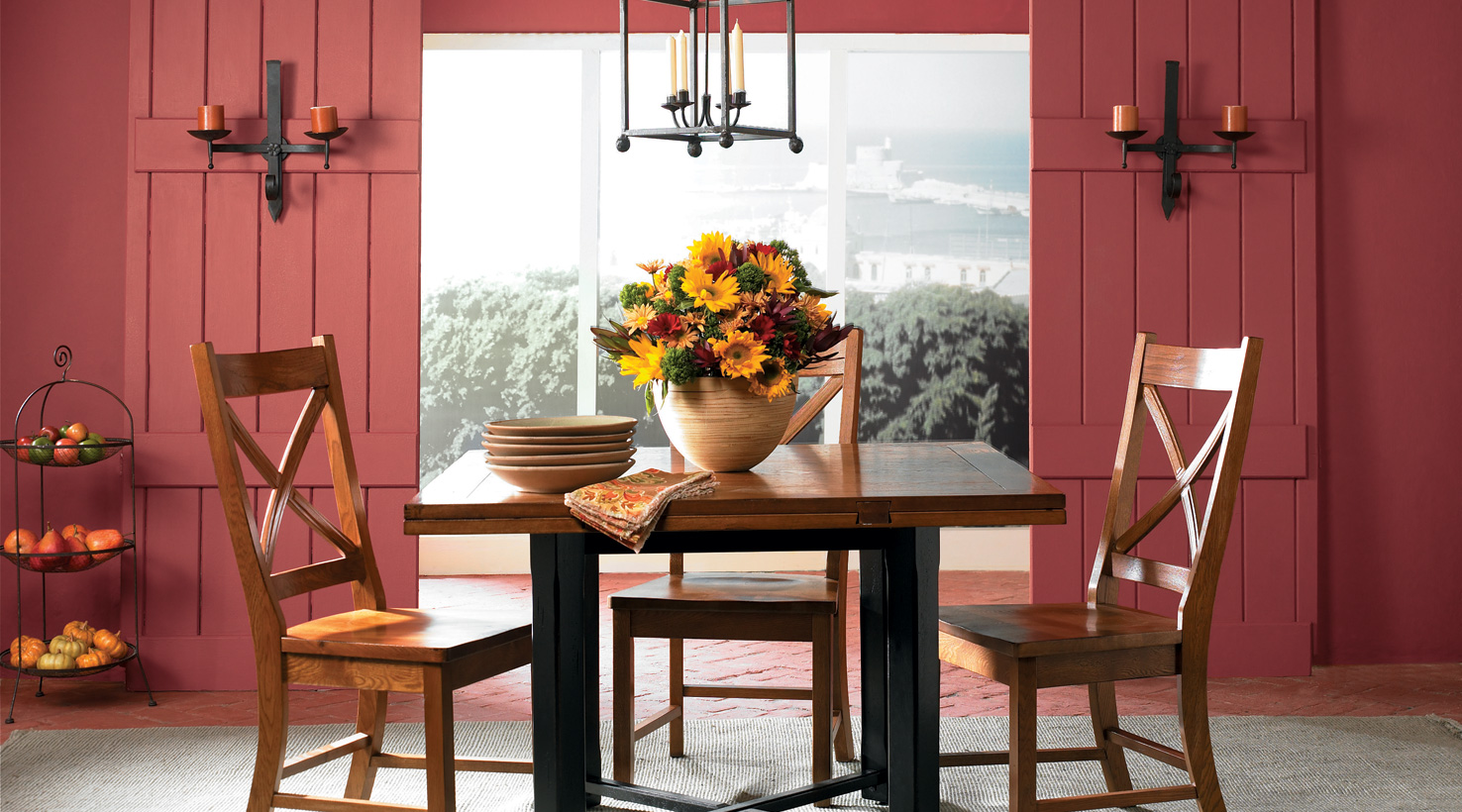 Dining Room Color Inspiration Gallery  SherwinWilliams - Red dining room colors