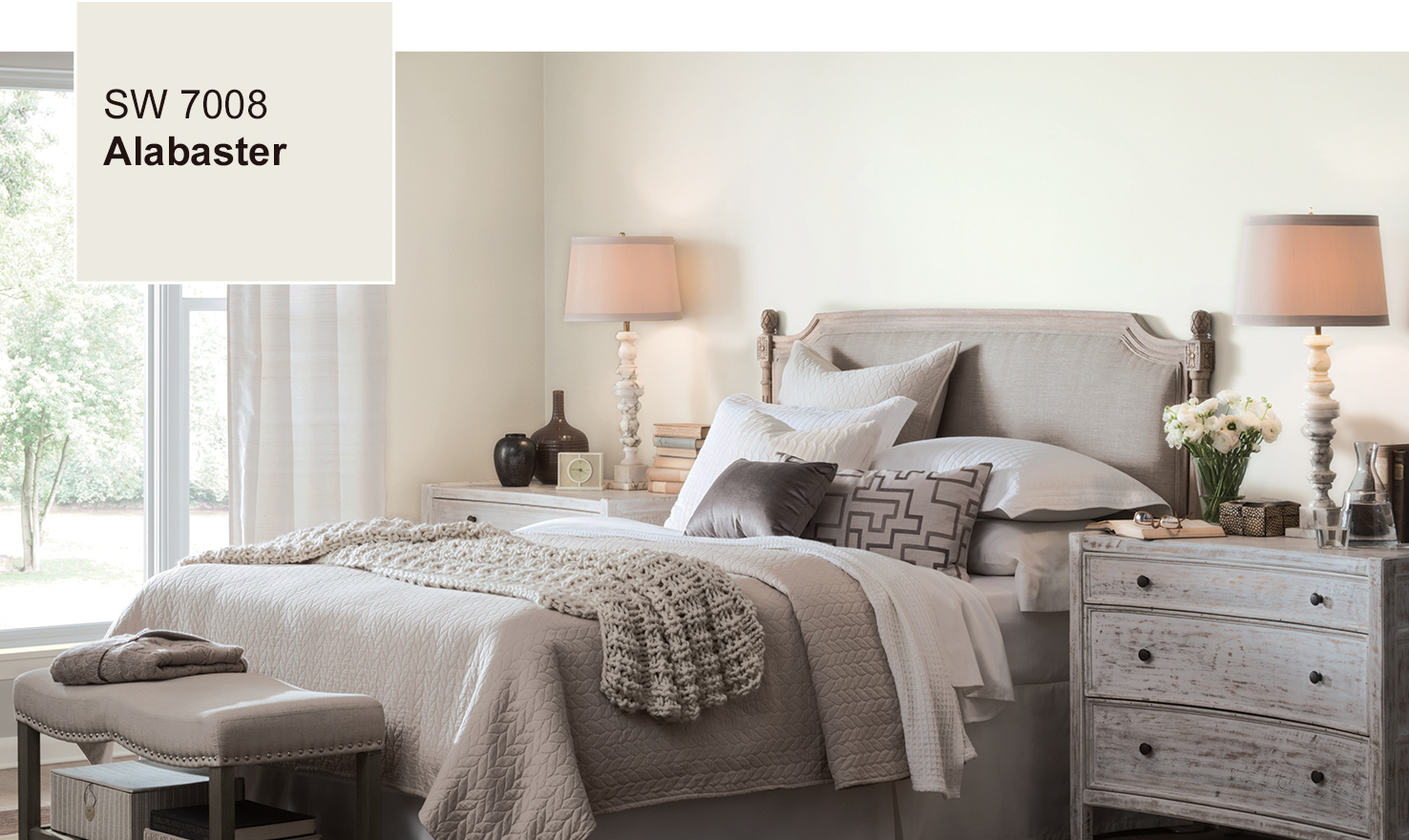 sherwin williams paint ideasSW 7008 Alabaster  2016 Color of the Year  SherwinWilliams