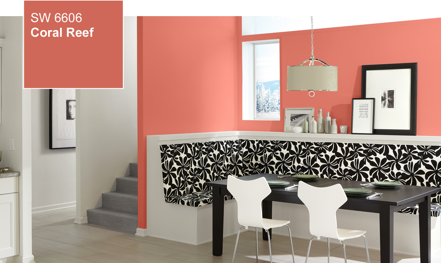 Coral Painted Rooms Color Of The Year Coral Reef Sw 6606 By Sherwin Williams