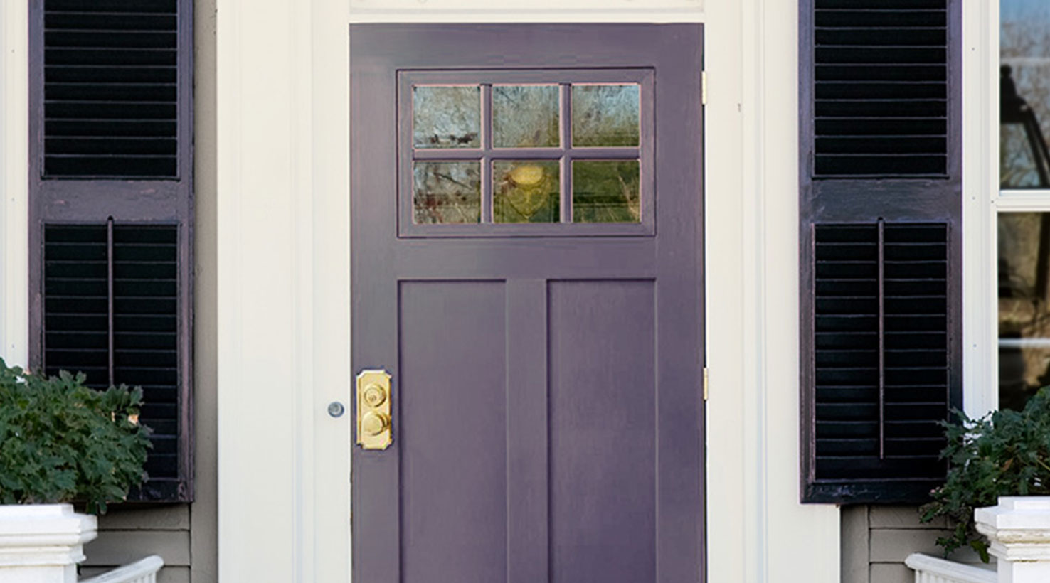 The 5 most welcoming front door paint colors sherwin - Sherwin williams outerspace exterior ...