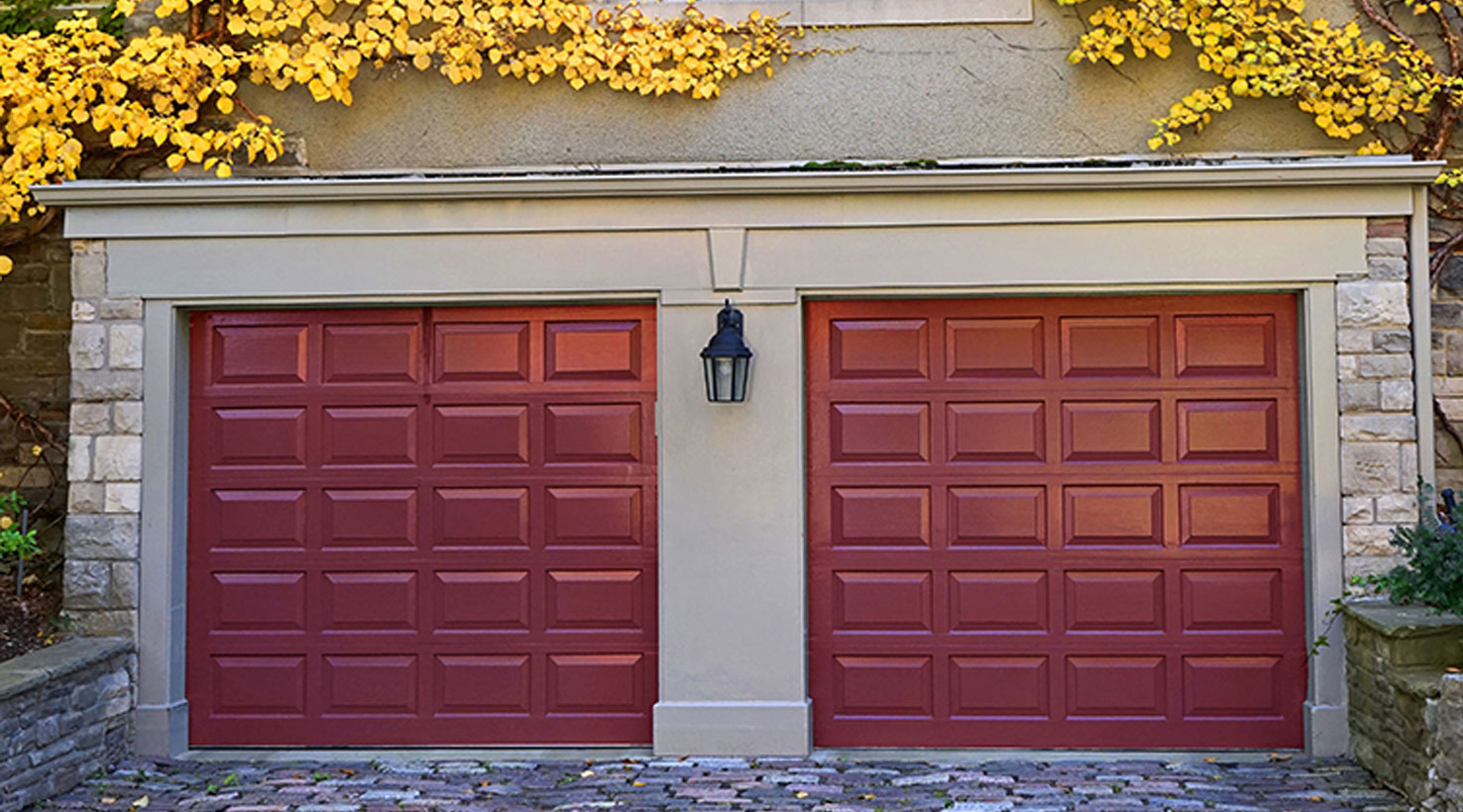 Garage door paint color inspiration sherwin williams for Exterior garage doors