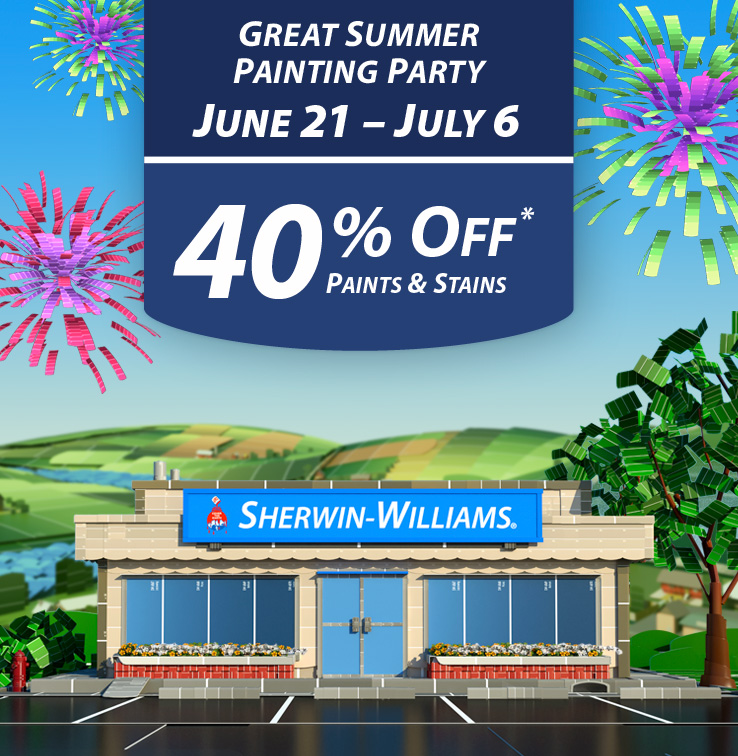 sherwin williams 40 off paints amp stains 10 off