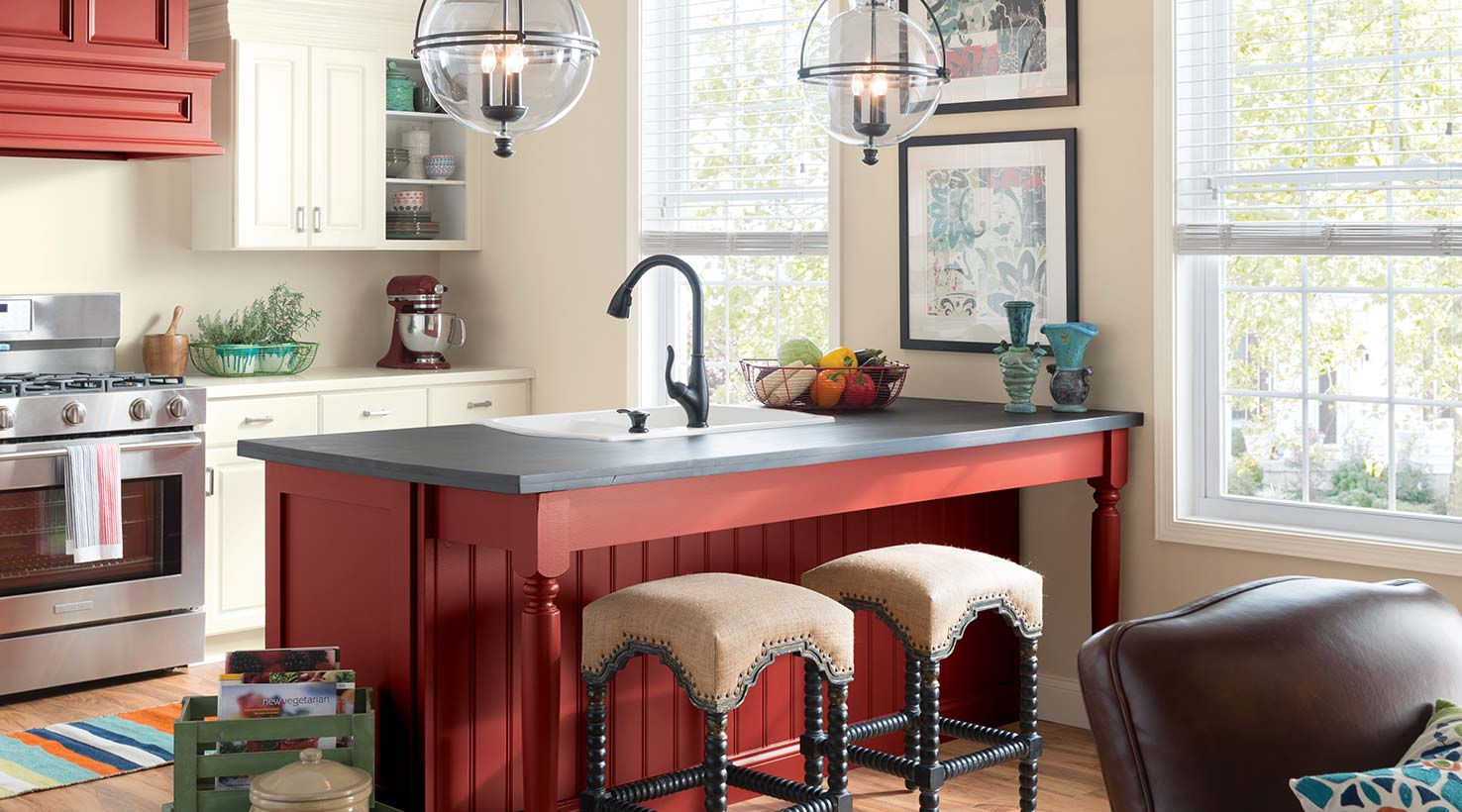 Red Kitchen Paint Ideas Part - 34: ... Kitchen - Reds ...