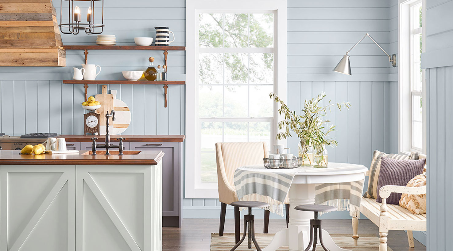 dining room blues - Dining Room Paint Colors