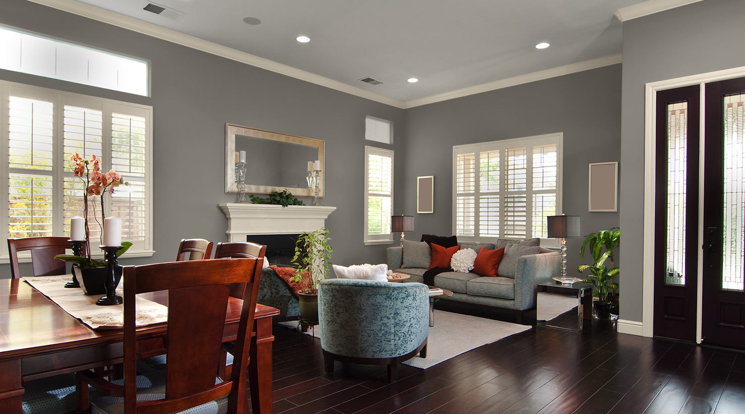 Dovetail Sw7018 Living Room Paint Color Ideas Inspiration Gallery
