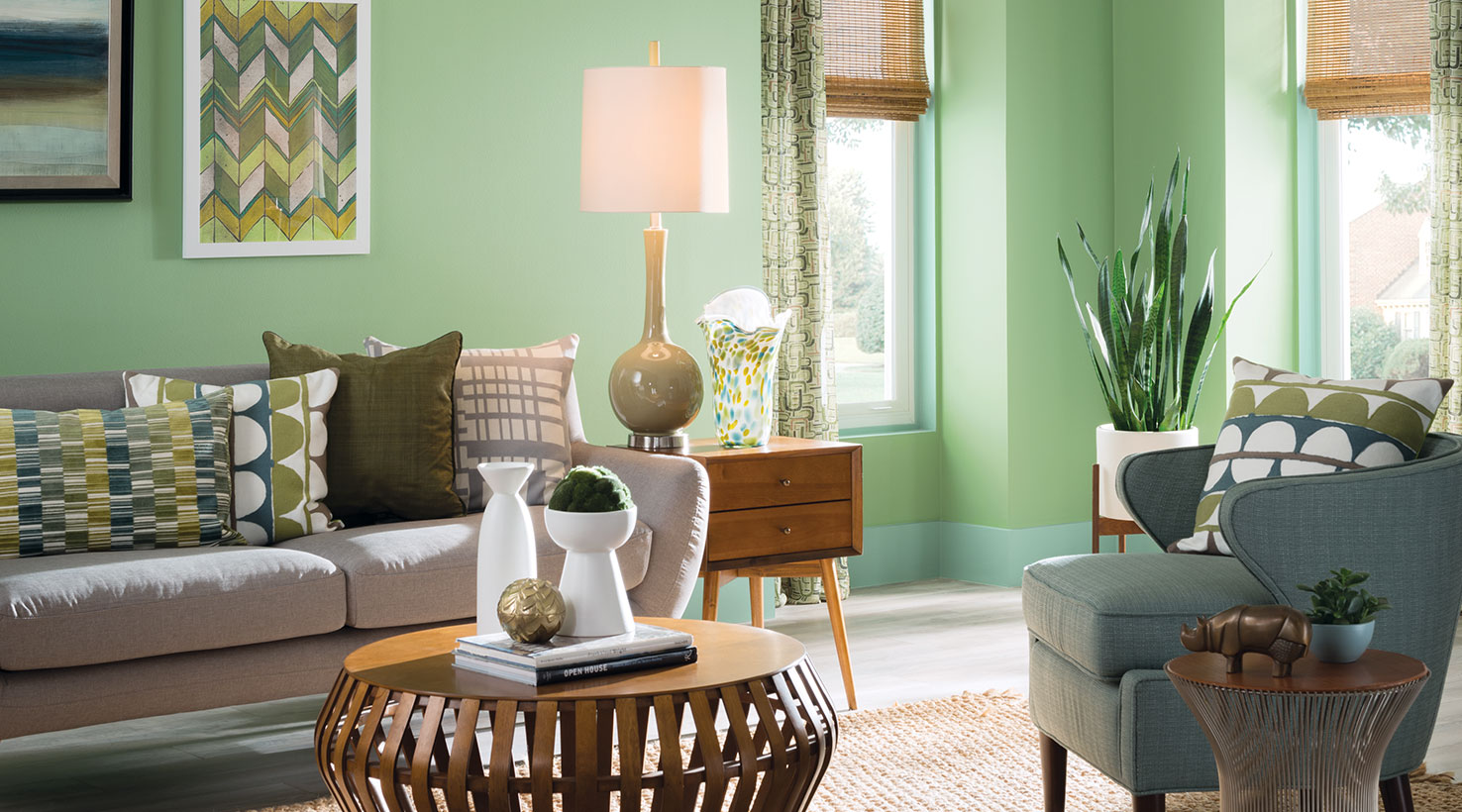 Living room paint color ideas inspiration gallery sherwin williams - Green paint colors for living room ...
