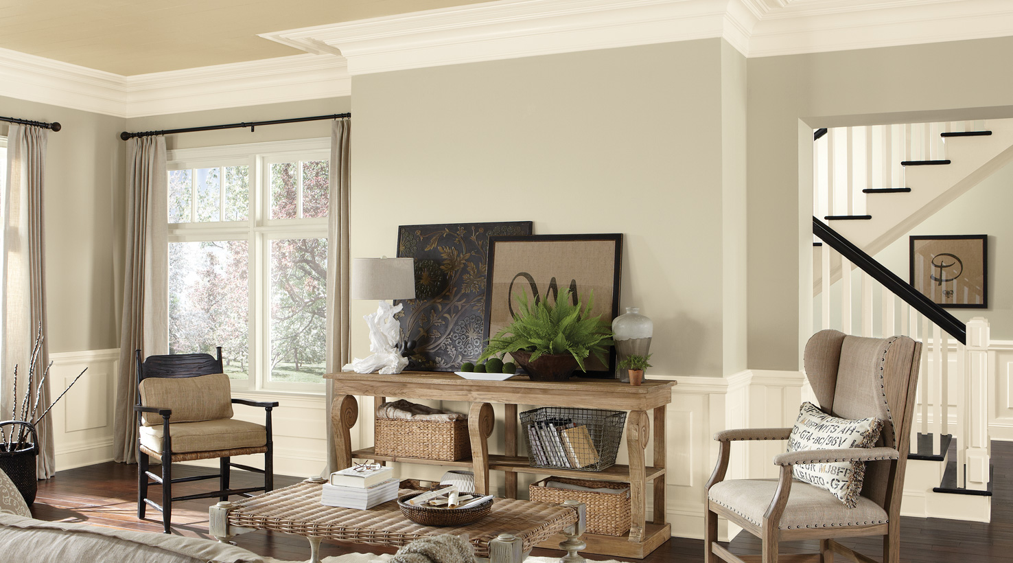 Interior Paint Color Ideas. Living Room - Whites Interior Paint ...
