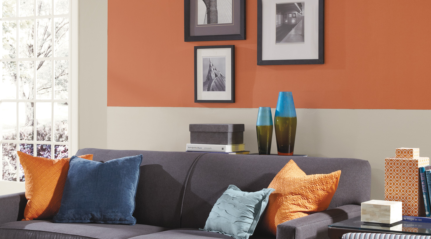 Living Room - Oranges ... & Living Room Paint Color Ideas | Inspiration Gallery | Sherwin-Williams