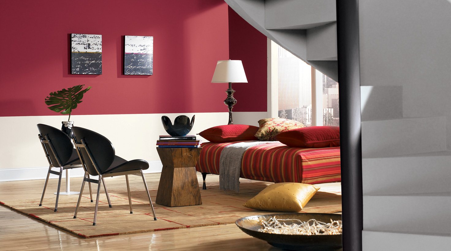 Interior Living Room Paint Ideas Part - 28: ... Living Room - Reds ...