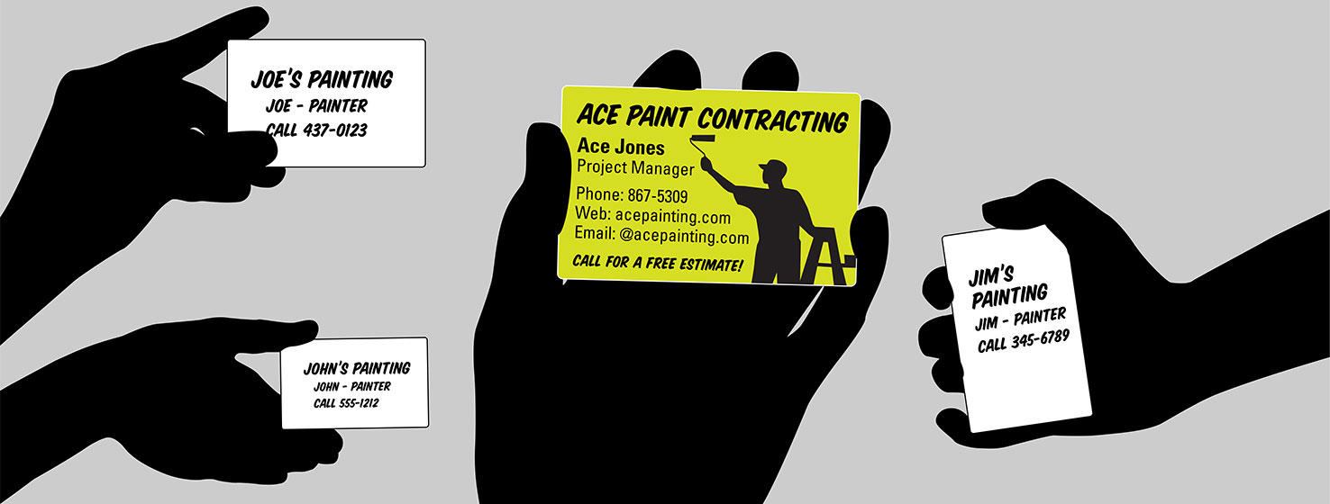24 ways to maximize your business card roi - Painting Business Cards