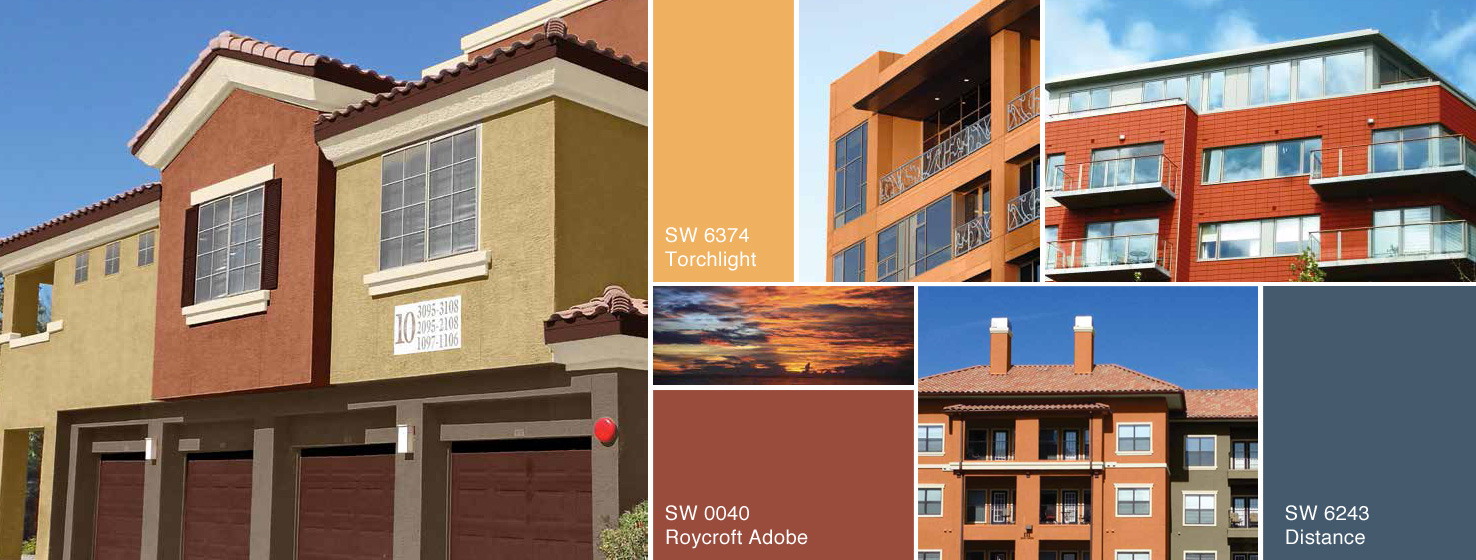 Rustic sun multi family color collection sherwin williams for Rustic paint colors from sherwin williams