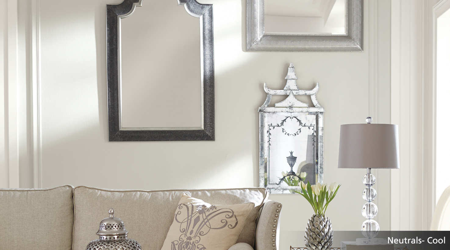 Cool Neutrals Postcard Room Scene