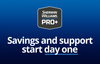 Sherwin-Williams PRO+ Savings and support start day one