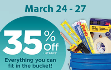 Blue Bucket Sale: March 24-27 2015